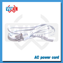 UL CUL NEMA5-15P white us power cord with IEC C13